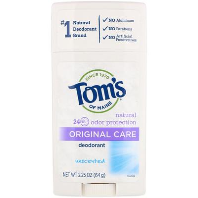 Оригинальный, неароматизированный дезодорант, 2,25 унции (64 г)