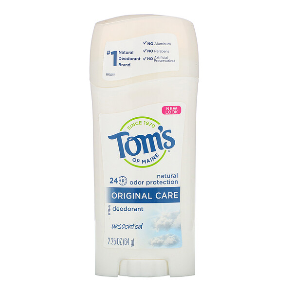 Tom's of Maine, Natural Deodorant, Original Care, Unscented, 2.25 oz (64 g)