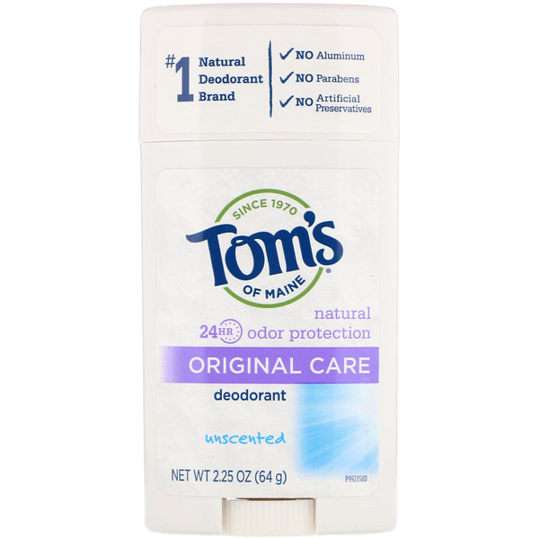 Tom's of Maine, Desodorante Original Care, Sem Fragrância, 2,25 oz (64 g)