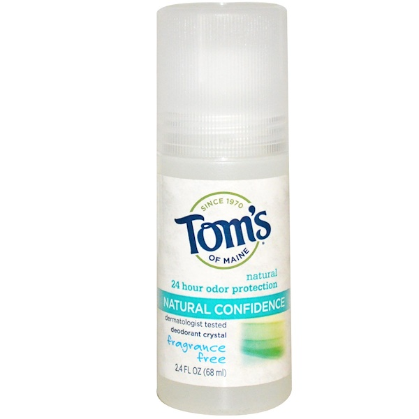 Tom's of Maine, Deodorant Crystal, Natural Confidence, Fragrance Free, 2.4 fl oz (68 ml) (Discontinued Item)