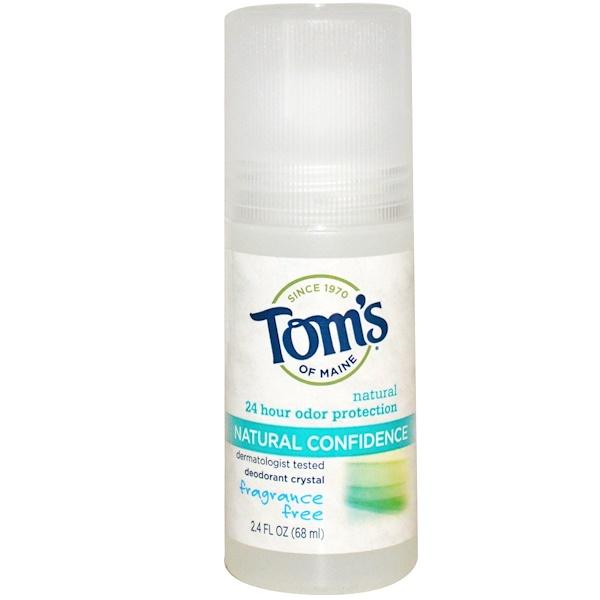 Tom's of Maine, Дезодорант Кристал, Природная уверенность, без запаха, 2.4 ж. унции (68 мл) (Discontinued Item)