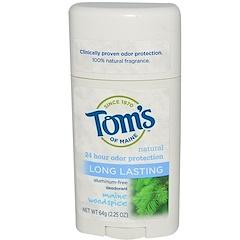 Tom's of Maine, Natural Long Lasting Deodorant, Aluminum-Free, Maine Woodspice, 2.25 oz (64 g)