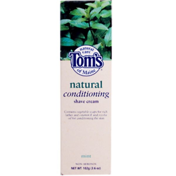 Tom's of Maine, Natural Conditioning Shave Cream Mint, 102 g (3.6 oz) (Discontinued Item)