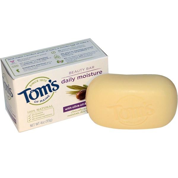 Tom's of Maine, Бар красоты, ежедневное увлажнение с оливковым маслом и витамином Е, 4 унции (113 г) (Discontinued Item)