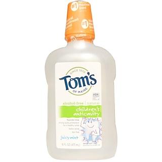 Tom's of Maine, Alcohol-Free Children's Anticavity Fluoride Rinse, Juicy Mint, 16 fl oz (473 ml)