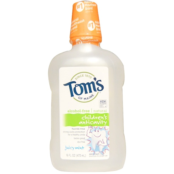 Tom's of Maine, Alcohol-Free Children's Anticavity Fluoride Rinse, Juicy Mint, 16 fl oz (473 ml)
