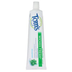 Томс оф Мэйн, Natural Anticavity,  Wicked Fresh!  with Fluoride Toothpaste, Cool Peppermint, 4.7 oz (133 g) отзывы покупателей