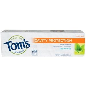Томс оф Мэйн, Cavity Protection Fluoride Toothpaste, Spearmint, 5.5 oz (155.9 g) отзывы