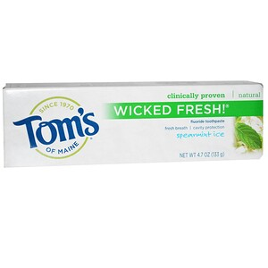 Томс оф Мэйн, Wicked Fresh!, Fluoride Toothpaste, Spearmint Ice, 4.7 oz (133 g) отзывы