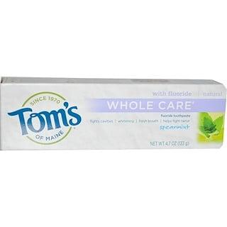 Tom's of Maine, معجون الأسنان العناية الكاملة بالفلورايد ، النعناع، 4.7 أوقية (133 غرام)