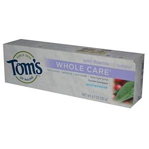 Томс оф Мэйн, Whole Care, Fluoride Toothpaste, Wintermint, 4.7 oz (133 g) отзывы покупателей