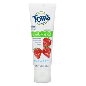 Томс оф Мэйн, Natural Children's Fluoride Toothpaste, Silly Strawberry, 4.2 oz (119 g) отзывы