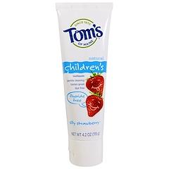 Tom's of Maine, Children's Toothpaste, Fluoride-Free, Silly Strawberry, 4.2 oz (119 g)