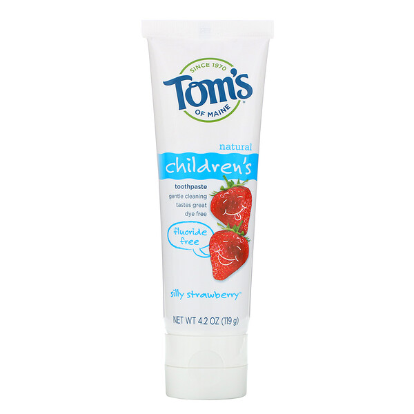 Tom's of Maine, Children's Toothpaste, Fluoride-Free, Silly Strawberry, 4.2 oz (119 g)
