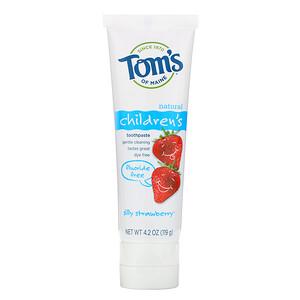 Томс оф Мэйн, Children's Toothpaste, Fluoride-Free, Silly Strawberry, 4.2 oz (119 g) отзывы