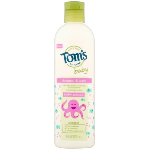 Tom's of Maine, 嬰兒洗髮水&沐浴露,微香型,10液盎司(295毫升)