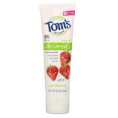 Купить Tom's of Maine Children's, Fluoride Toothpaste, Silly Strawberry, 5.1 oz (144 g)