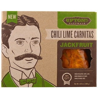 Upton's Naturals, Jackfruit, Chili Lime Carnitas, 10.6 oz (300 g)