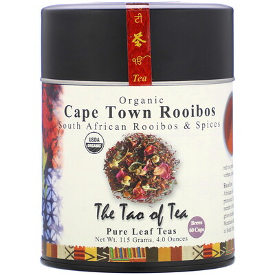The Tao of Tea Organic South African Rooibos & Spices, Cape Town Rooibos, 4.0 oz (115 g)