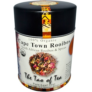 The Tao of Tea, 100% Organic Cape Town Rooibos, Caffeine Free, 4.0 oz (114 g)