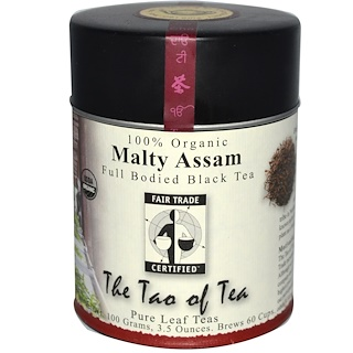 The Tao of Tea, 100% Organic, Malty Assam, Full Bodied Black Tea, 3.5 oz (100 g)