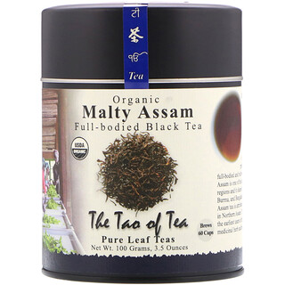 The Tao of Tea, Organic Full Bodied Black Tea, Malty Assam, 3.5 oz (100 g)