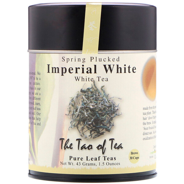 The Tao of Tea, Spring Plucked White Tea, Imperial White , 1.5 oz (43 g)