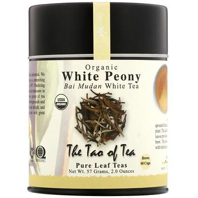 Купить The Tao of Tea Organic Bai Mudan, белый чай, белый пион, 57г (2унции)