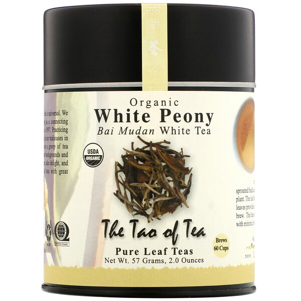 The Tao of Tea, Té blanco orgánico Bai Mudan, Peonía blanca, 57 g (2,0 oz)
