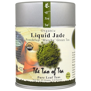 The Tao of Tea, Organic Powdered Matcha Green Tea, Liquid Jade, 3 oz (85 g)