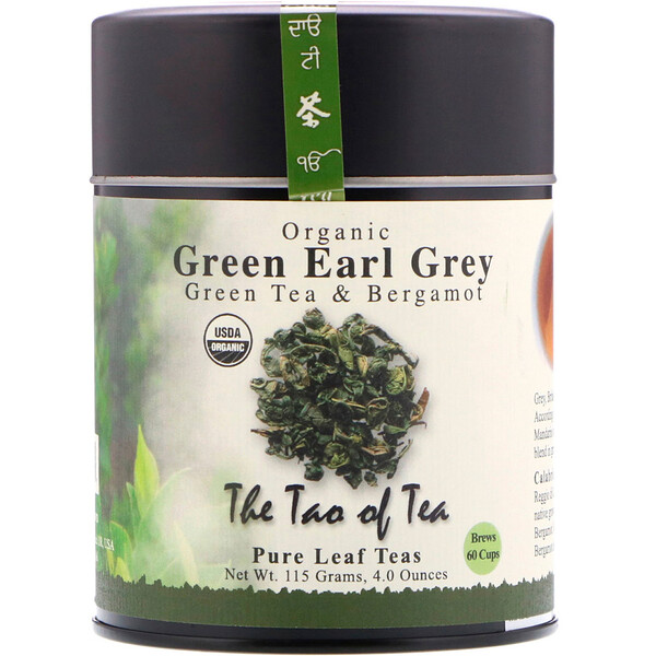 The Tao of Tea, Organic Green Tea & Bergamot, Green Earl Grey, 4.0 oz (115 g)