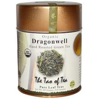 The Tao of Tea, Organic Hand Roasted Green Tea, Dragonwell, 3.0 oz (85 g)