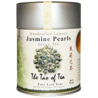 The Tao of Tea, Handrolled Leaves Green Tea, Jasmine Pearls, 3 oz (85 g)
