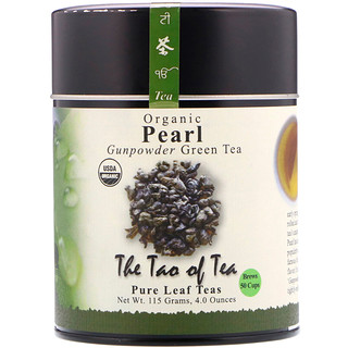 The Tao of Tea, Organic Gunpowder Green Tea, Pearl, 4.0 oz (115 g)
