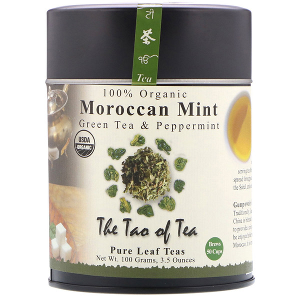 The Tao of Tea, Organic Green Tea & Peppermint, Moroccan Mint, 3.5 oz (100 g) (Discontinued Item)