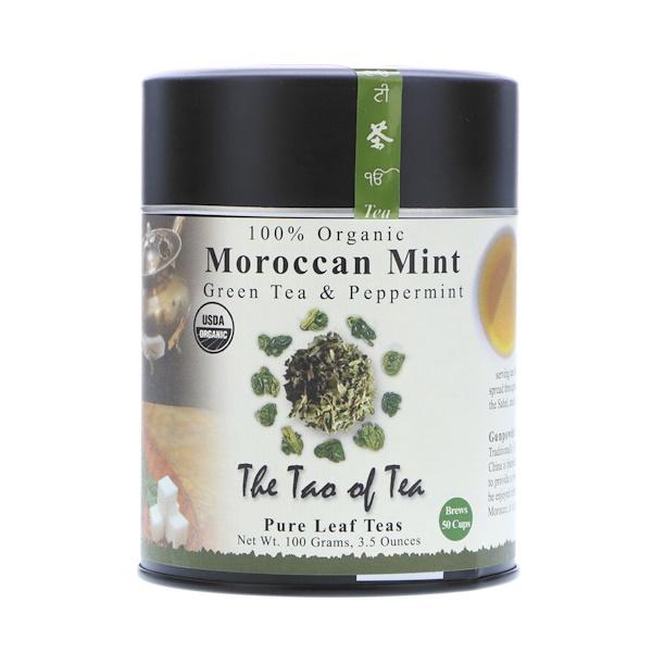 The Tao of Tea, 100% Органический Зеленый Чай с Марокканской Мятой, 3.5 унции (100 г)