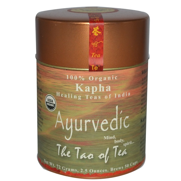 The Tao of Tea, 100% Organic Kapha Ayurvedic Tea, Caffeine Free, 2.5 oz (72 g) (Discontinued Item)