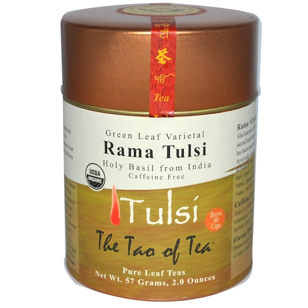 The Tao of Tea, Сортовой Зеленый Листовой, Чай Рама Тулси, Без Коффеина 2 унции (57 г) (Discontinued Item)
