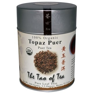 The Tao of Tea, 100% Organic Puer Tea, Topaz Puer, 3.5 oz (100 g)