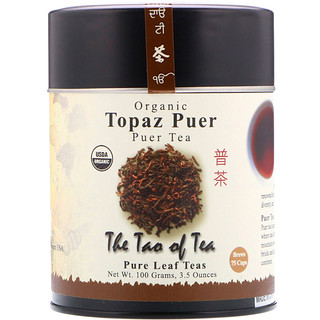 The Tao of Tea, Organic Puer Tea, Topaz Puer, 3.5 oz (100 g)