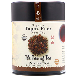 Зе Тао оф Ти, Organic Puer Tea, Topaz Puer, 3.5 oz (100 g) отзывы покупателей