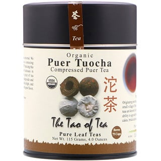 The Tao of Tea, Puer Tuocha Orgánico, Té Puer Comprimido, 4.0 oz (115 g)