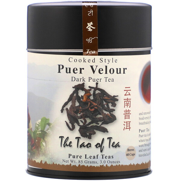 The Tao of Tea, Cooked Style Puer Velour, Dark Puer Tea, 3 oz (85 g)
