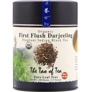 The Tao of Tea, Organic Fragrant Indian Black Tea, First Flush Darjeeling, 3.5 oz (100 g)