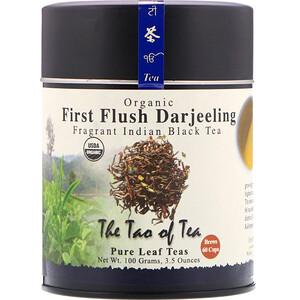 Зе Тао оф Ти, Organic Fragrant Indian Black Tea, First Flush Darjeeling, 3.5 oz (100 g) отзывы покупателей
