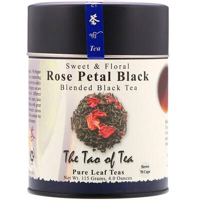 Фото Черный чай с лепестками роз, черный чай со сладким цветочным ароматом, 4 унции (115 г)