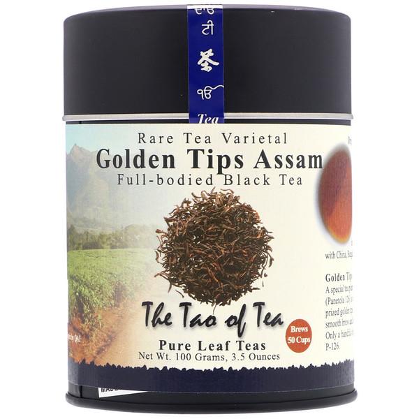 The Tao of Tea, Full-Bodied Black Tea, Golden Tips Assam, 3.5 oz (100 g) (Discontinued Item)