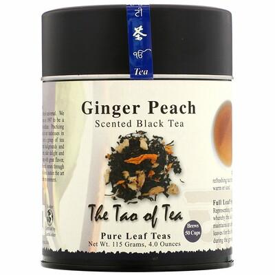 The Tao of Tea Ароматизированный черный чай, имбирь и персик, 4, 0 унции (115 гр)  - купить со скидкой