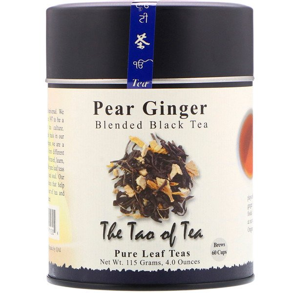 The Tao of Tea, Blended Black Tea, Pear Ginger, 4 oz (115 g) (Discontinued Item)