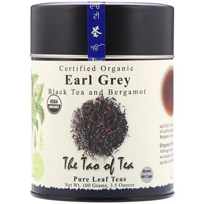Купить The Tao of Tea Сертифицированный органический черный чай с бергамотом, Граф Грей, 3.5 унций (100 г)